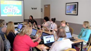 Photo of social media workshop in progress, Kent