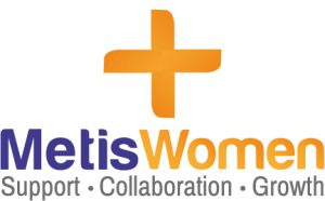 Metis Women Plus Logo: Support - Collaboration - Growth
